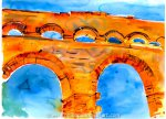 Pont du Gard from the River Gard